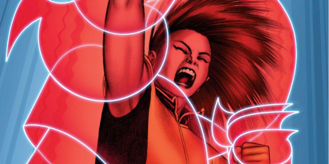 """Armor – japońska mutantka, która potrafi generować wokół siebie plazmowe pole siłowe o owalnym kształcie. W przeszłości działała m.in. jako pomocnica Wolverine'a, który chciał zmienić jej przydomek na… """"Szpony"""". Pomimo młodego wieku jest niezwykle doświadczona – młoda generacja mutantów traktuje ją na Krakoi jak mentorkę."""