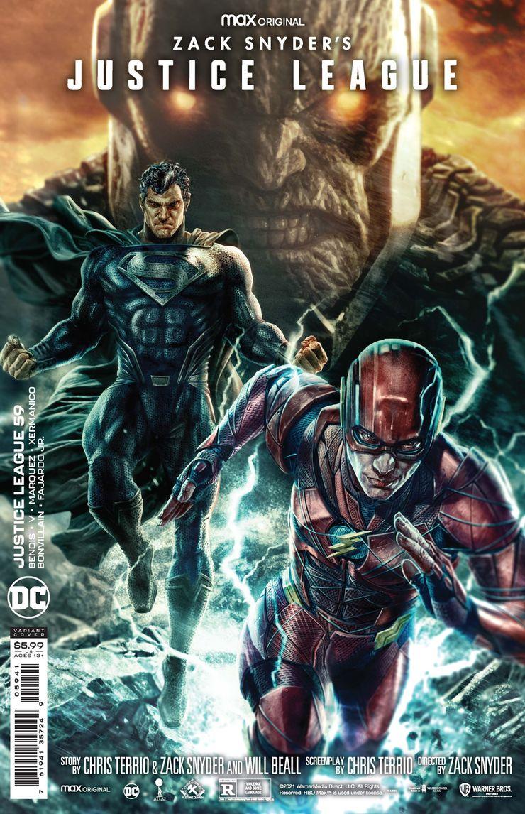"""Liga Sprawiedliwości Zacka Snydera - okładki alternatywne do komiksu """"Justice League #59"""""""