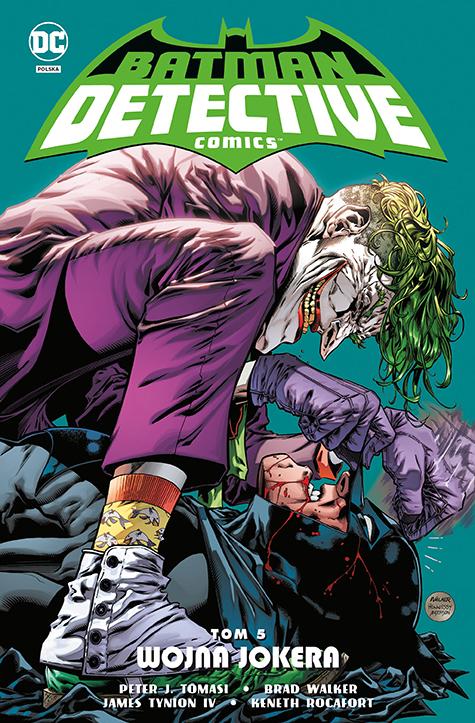 Batman Detective Comics. Tom 5. Wojna Jokera - okładka