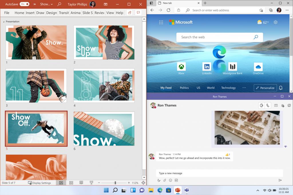 Windows 11 - system zarządzania oknami