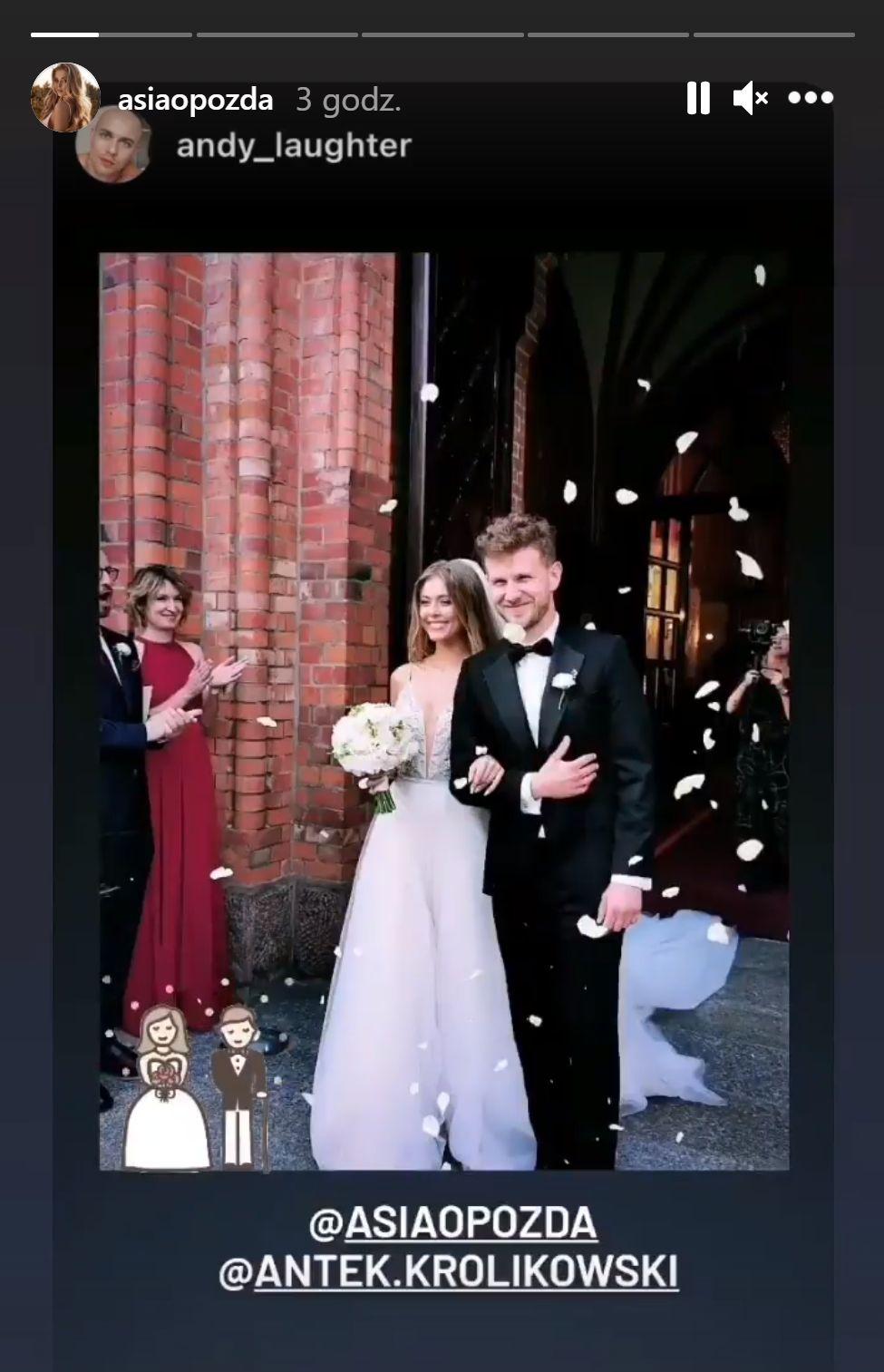 Joanna Opozda i Antek Królikowski - ślub