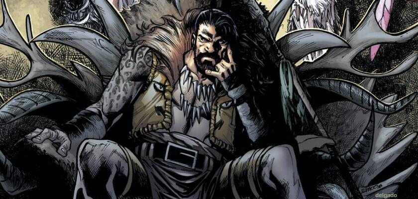 Narrator w zwiastunie ma wschodni akcent i wspomina o poszukiwaniu godnego rywala, który go zaskoczy lub nawet pokona. Opis ten idealnie pasuje do antagonisty znanego jako Kraven Łowca.